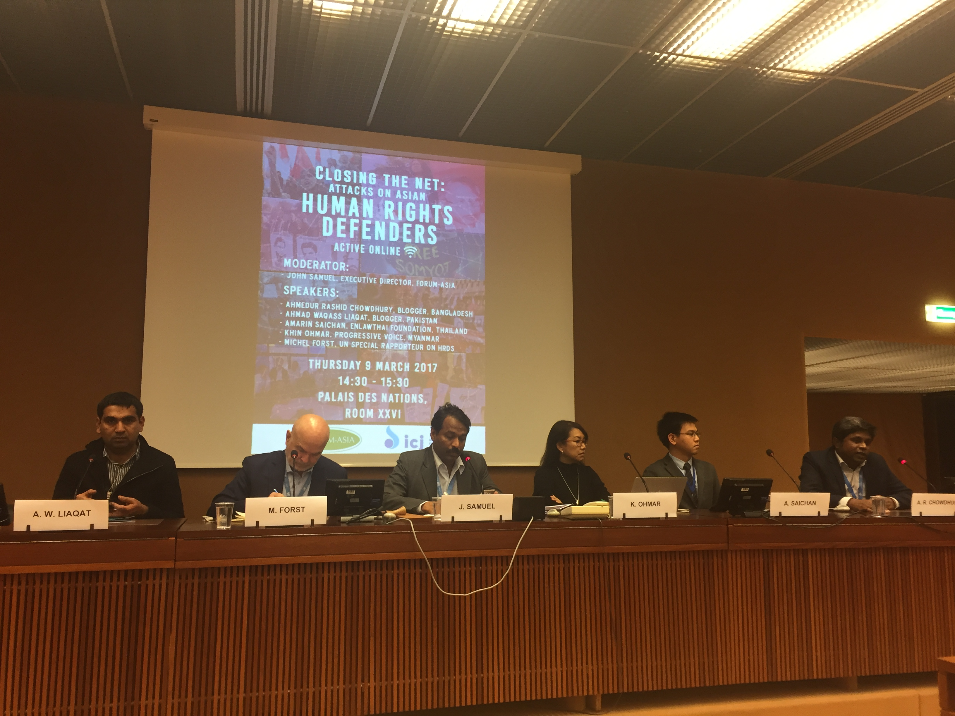 FORUM-ASIA at UN Human Rights Council Session 34 « FORUM-ASIA
