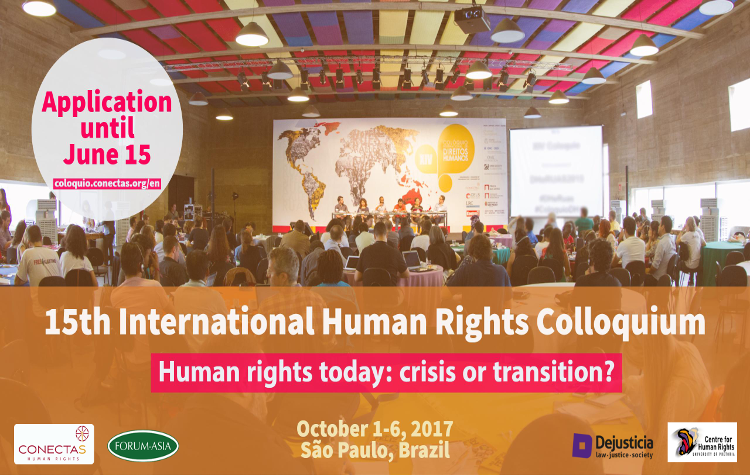 15th International Human Rights Colloquium – Human rights today: crisis or transition?
