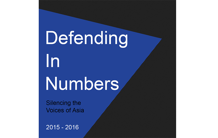 Defending in Numbers – Silencing the Voices of Asia 2015-2016