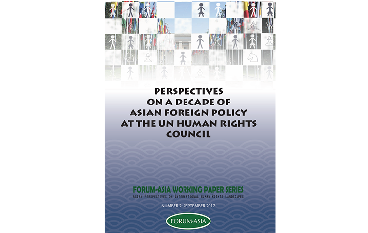 Working Paper Series 2: Perspectives on a Decade of Asian Foreign Policy at the UN Human Rights Council