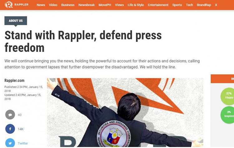 Grave Concern about Undermining of Press Freedom in the Philippines