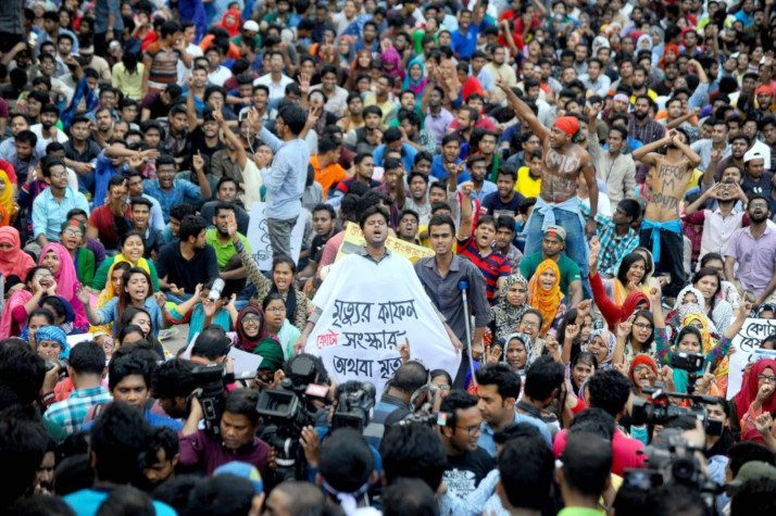 Bangladesh: Stop violence against peaceful students protesters demanding reforms in the job reservation system