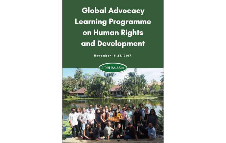 Report of the 2017 Global Advocacy Learning Programme on Human Rights and Development
