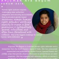 Anjuman Ara Begum from FORUM-ASIA