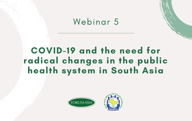 Webinar: COVID-19 and the Need for Radical Changes in the Public Health System in South Asia