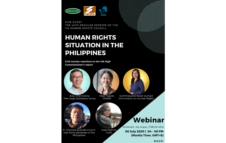HRC 44 Side Event: Human Rights Situation in the Philippines – Civil Society Reactions to the UN High Commissioner's Report