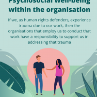 Psychosocial well-being within the organisation
