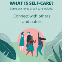 Self-care is to connect with others and nature