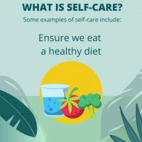 Self-care is to ensure we eat an healthy diet