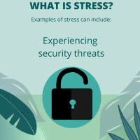 Stress is experiencing security threats