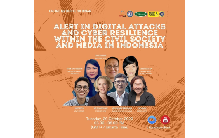 Webinar: Alert in Digital Attacks and Cyber Resilience within the Civil Society and Media in Indonesia