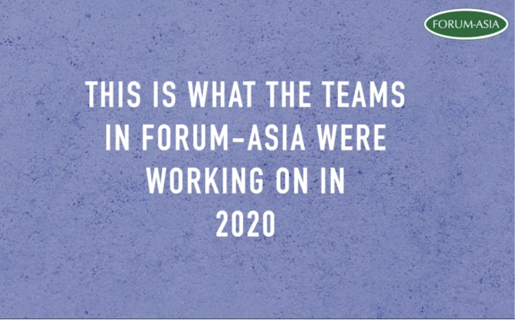 FORUM-ASIA's Wrap-up video 2020