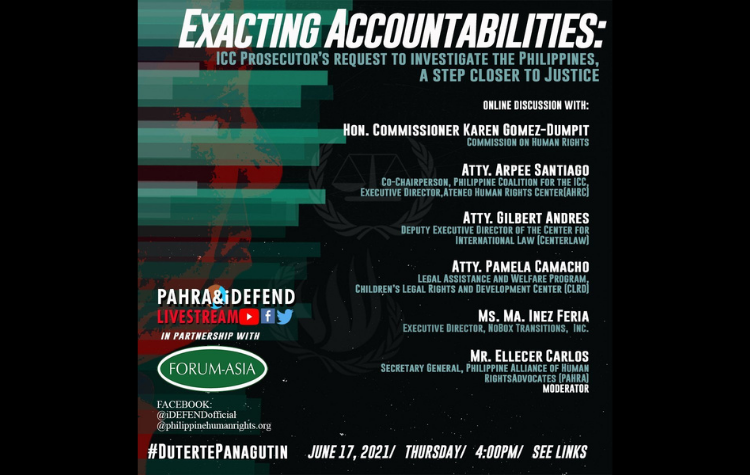 [Live Discussion]: Exacting Accountabilities: ICC prosecutor's Request to Investigate the Philippines, A Step Closer to Justice