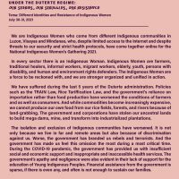 Unity Statement of the National Indigenous Women's Gathering 2021 - LILAK pp1