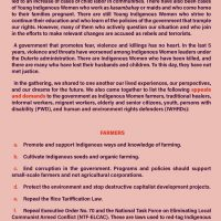 Unity Statement of the National Indigenous Women's Gathering 2021 - LILAK pp2