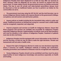 Unity Statement of the National Indigenous Women's Gathering 2021 - LILAK pp3