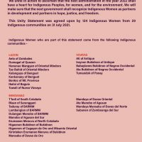 Unity Statement of the National Indigenous Women's Gathering 2021 - LILAK pp6